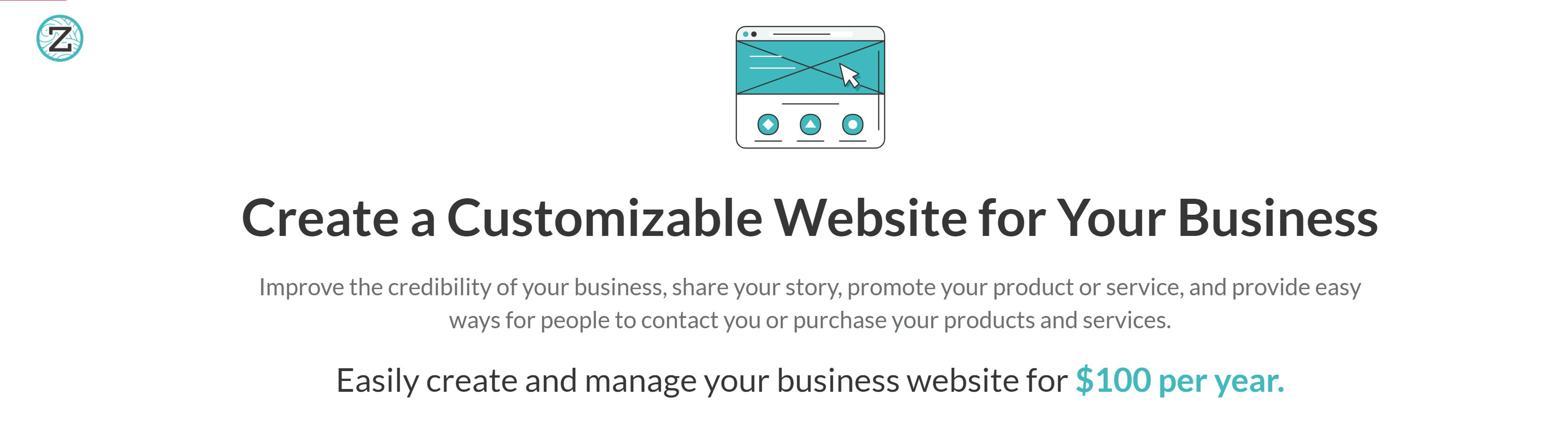 ZenBusiness Websites for business Prices